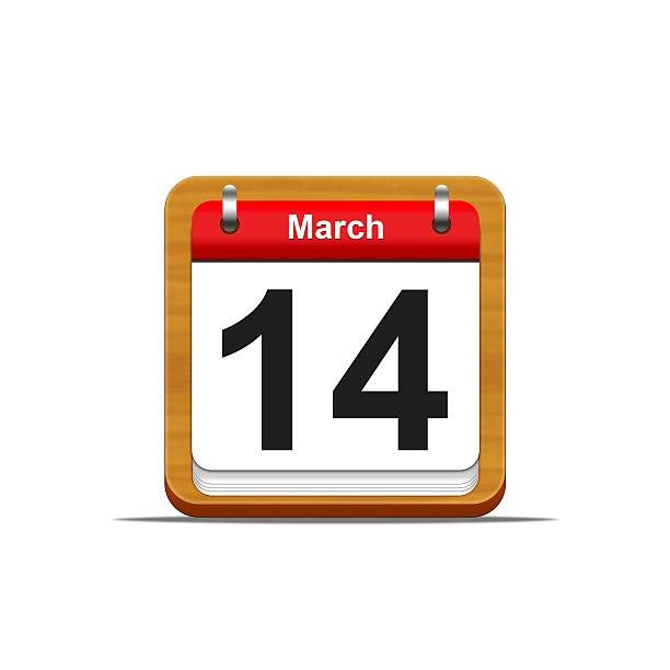 March 14. stock photo