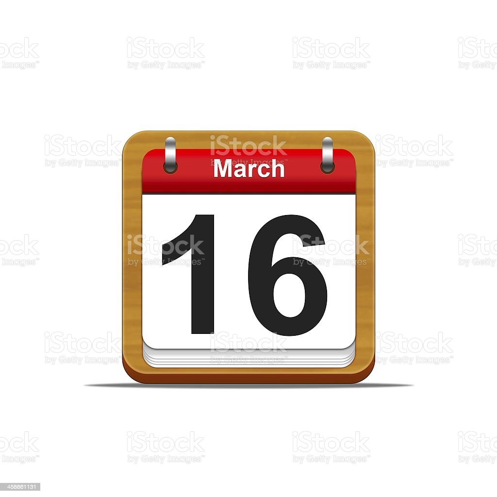 March 16. stock photo