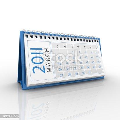 184357018 istock photo March 2011 calendar 182869776
