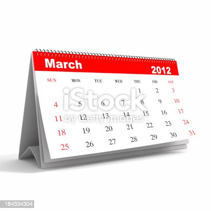 168445178 istock photo March 2012 - Calendar series 184334304
