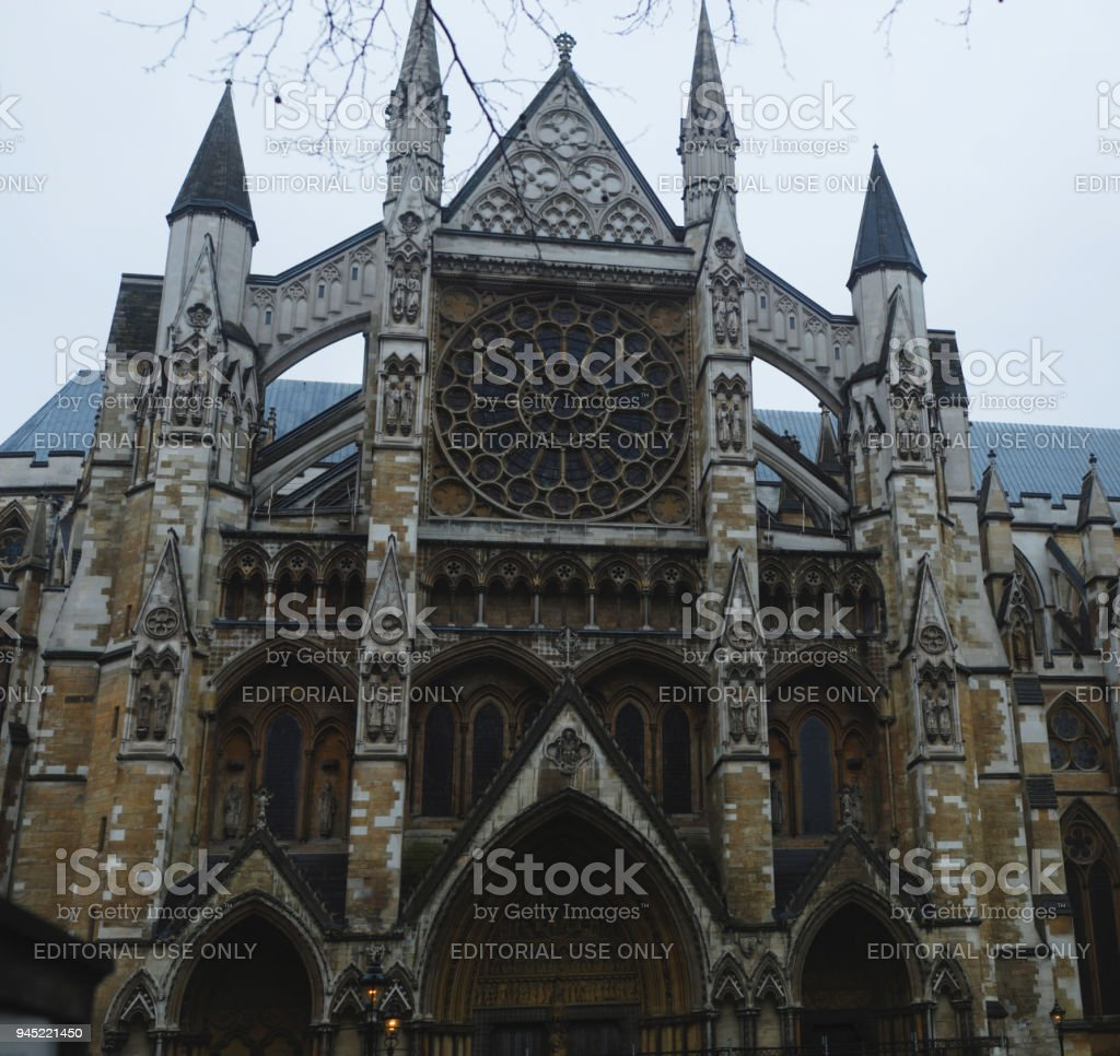 March 2018, Westminter Abbey, London, UK. Square Image. stock photo