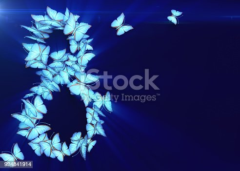 istock March 8. Womens day. 3d rendering. 924841914