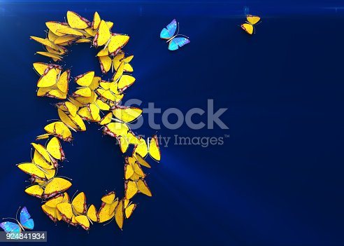 istock March 8. Womens day. 3d rendering. 924841934
