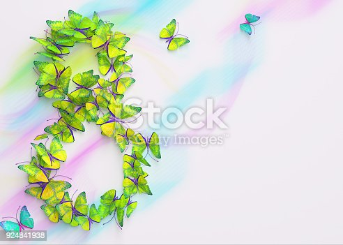 istock March 8. Womens day. 3d rendering. 924841938
