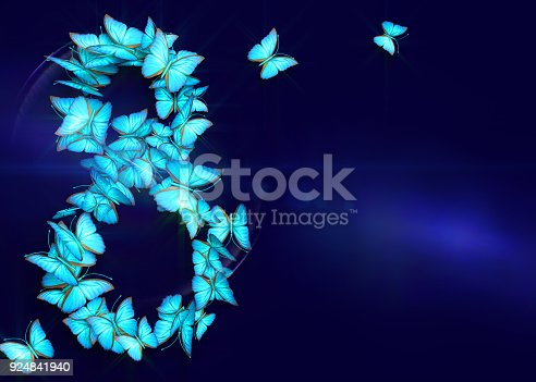 istock March 8. Womens day. 3d rendering. 924841940