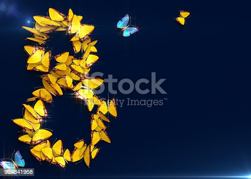 istock March 8. Womens day. 3d rendering. 924841958