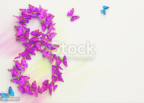 istock March 8. Womens day. 3d rendering. 924841972