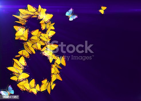 istock March 8. Womens day. 3d rendering. 924841982