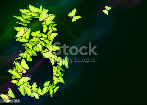 istock March 8. Womens day. 3d rendering. 924841984