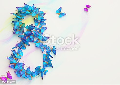 istock March 8. Womens day. 3d rendering. 924842074