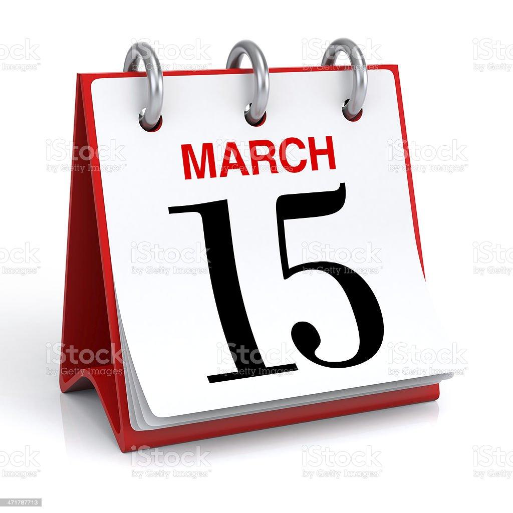 March Calendar stock photo