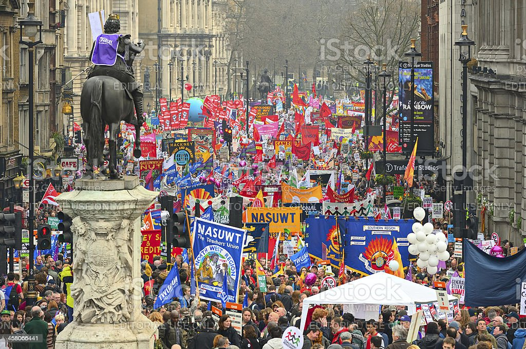 March for the Alternative against  public expenditure cuts, London royalty-free stock photo