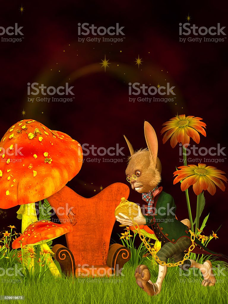 march hare, wonderland stock photo