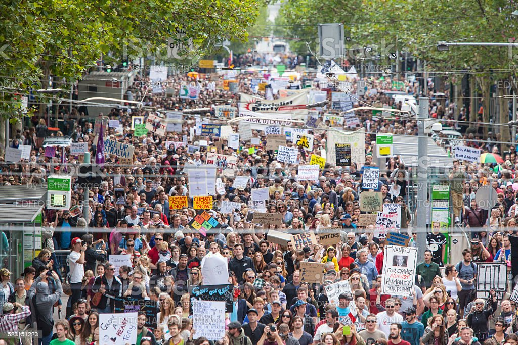 March in March Political Protest Melbourne stock photo
