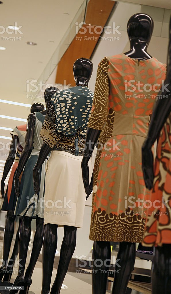 March of the mannequins royalty-free stock photo