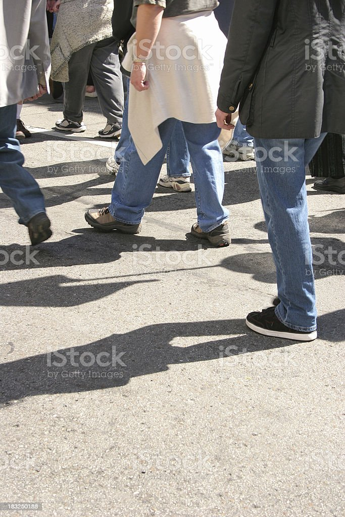 March of the Protesters royalty-free stock photo