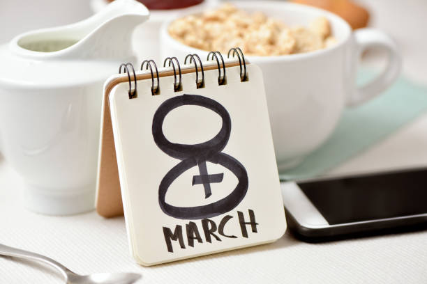 8 March, the womens day stock photo
