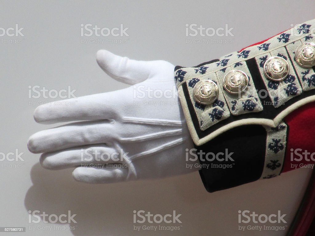 Marching band glove stock photo