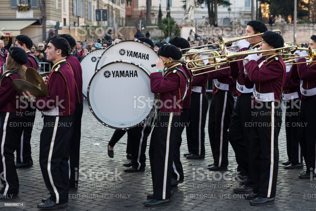 Marching band in Rome, Italy - foto de stock