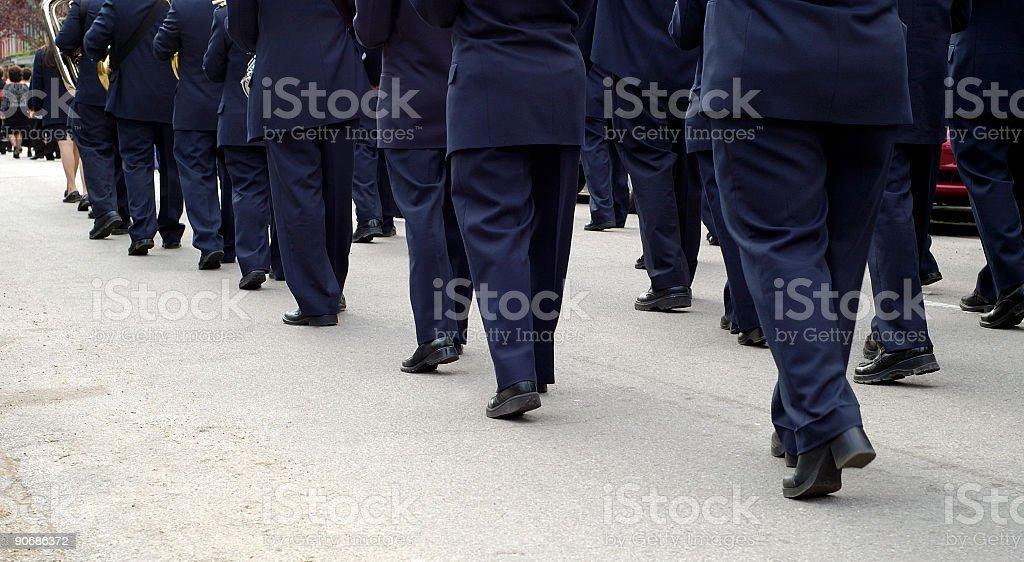Marching Band Pano stock photo