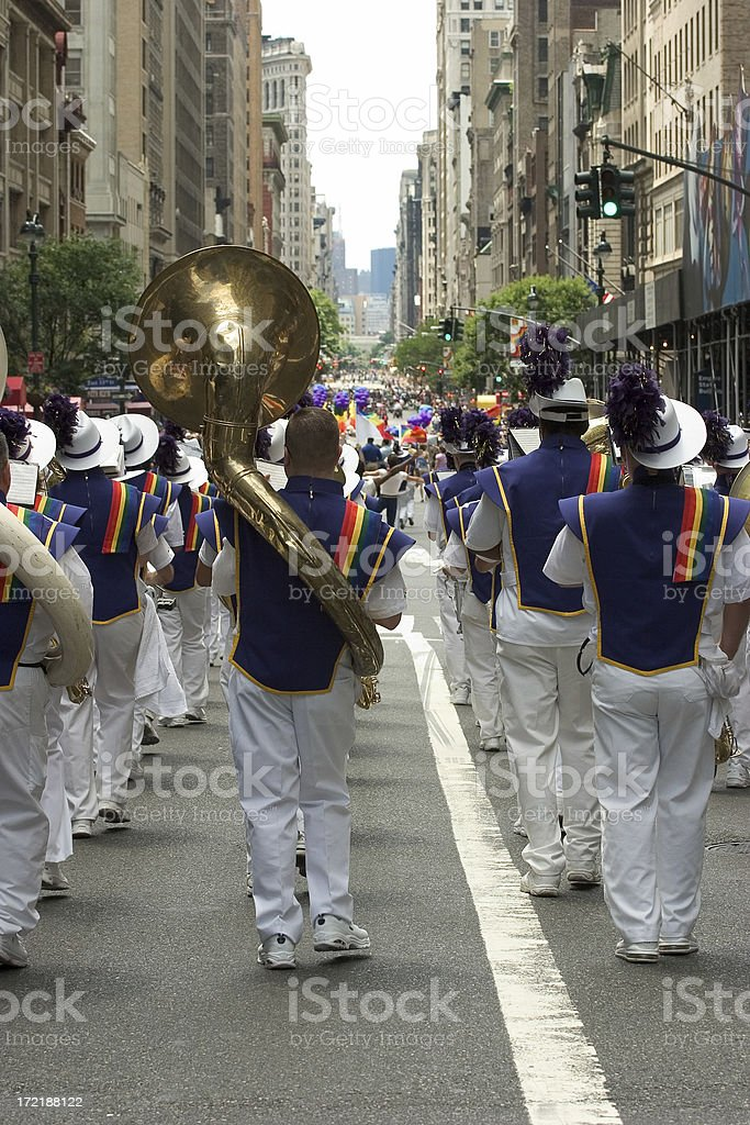 Marching band. stock photo