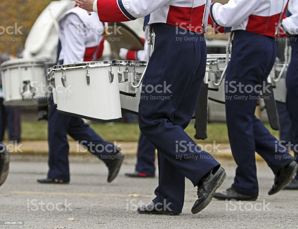 Marching band stock photo