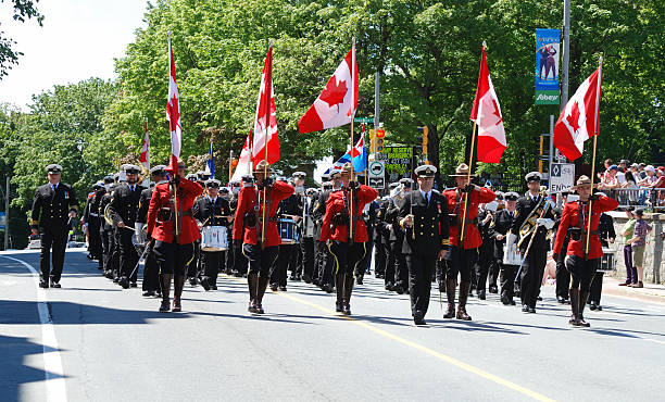 marching band - canada day stock pictures, royalty-free photos & images