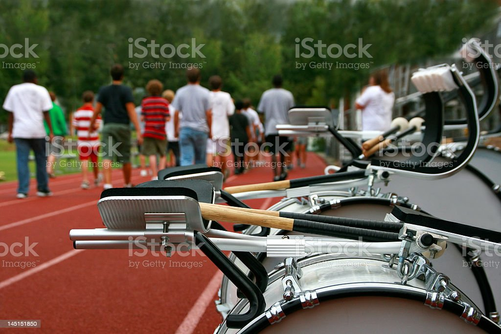 Marching Band Practice stock photo