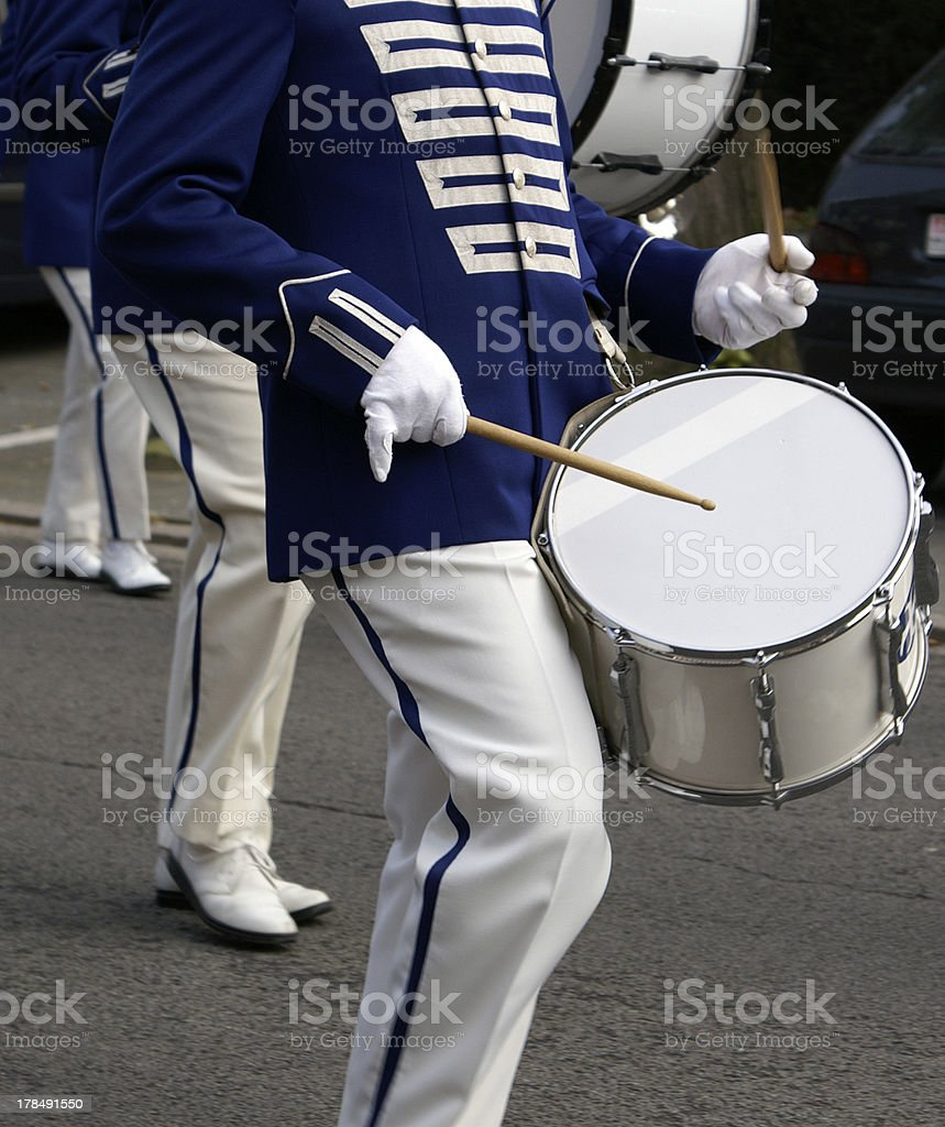 marching drum stock photo