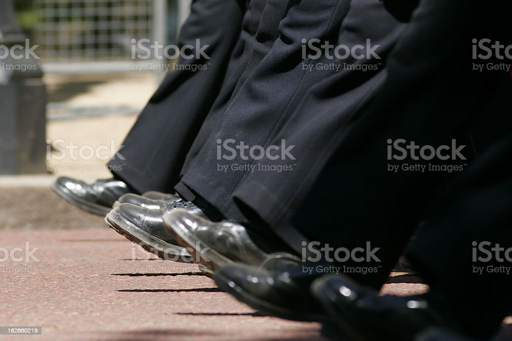 Marching feet royalty-free stock photo