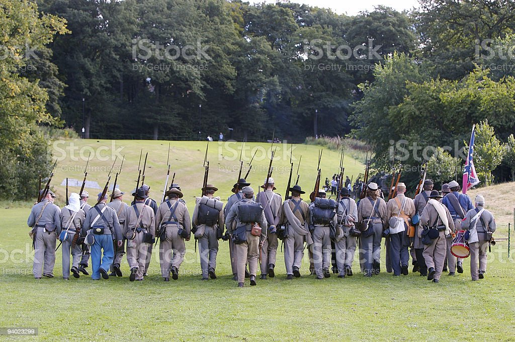 Marching into Battle - with a little Motivation ! stock photo