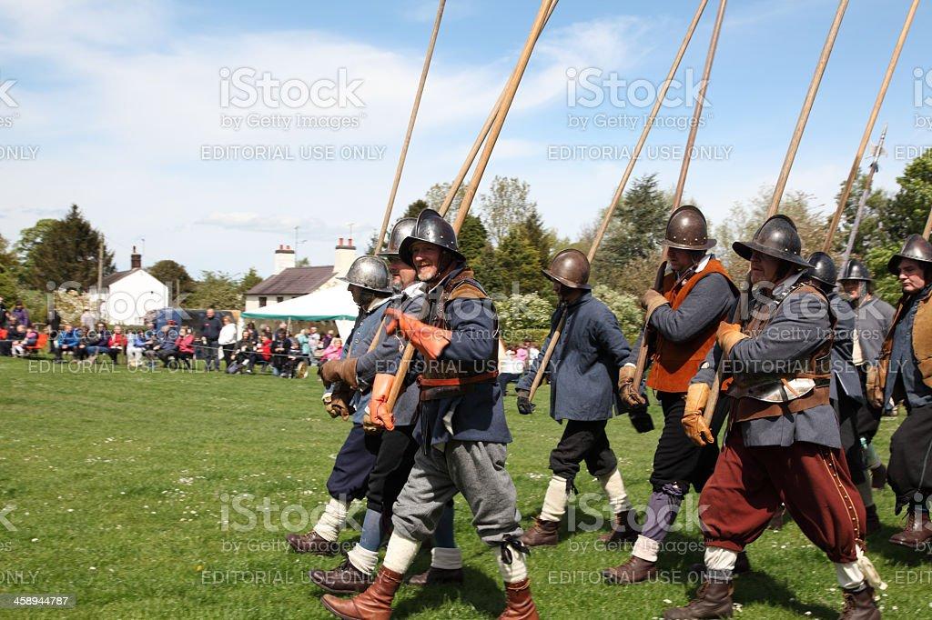 Marching men royalty-free stock photo