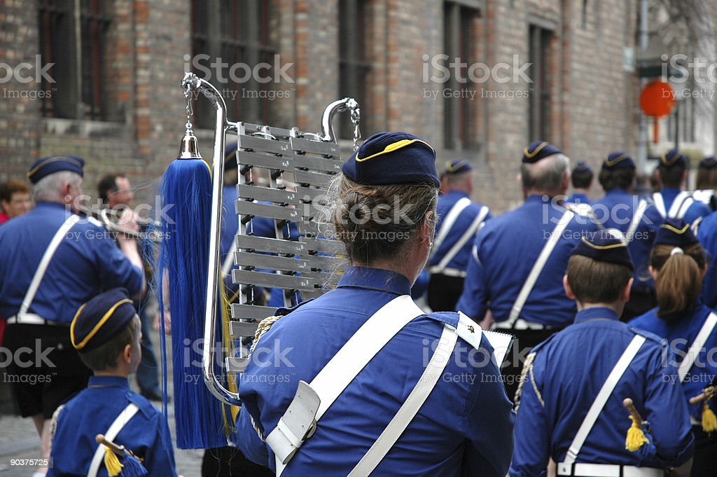 Marching Music band stock photo