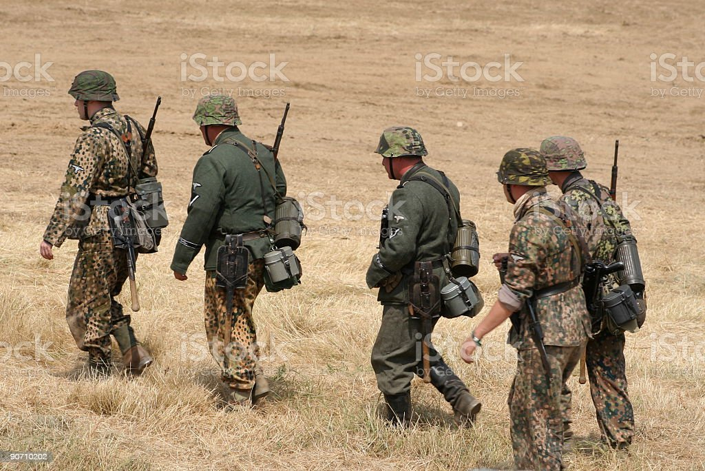 Marching soldiers  Armed Forces Stock Photo