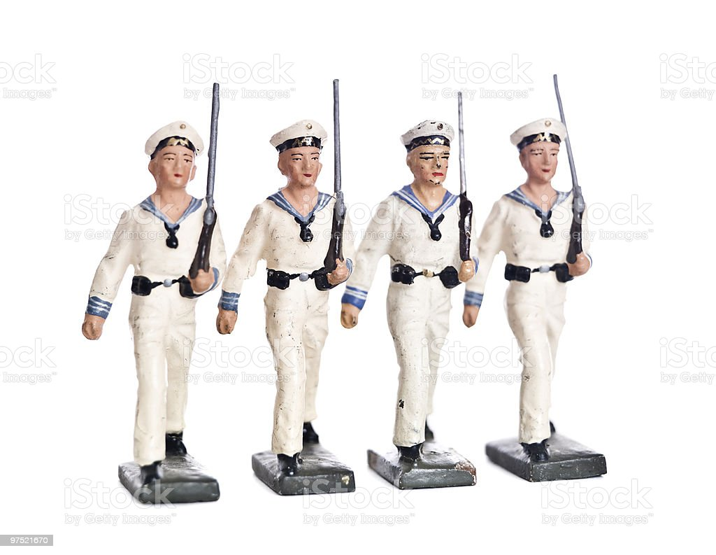 Marching Toy Soldiers royalty-free stock photo