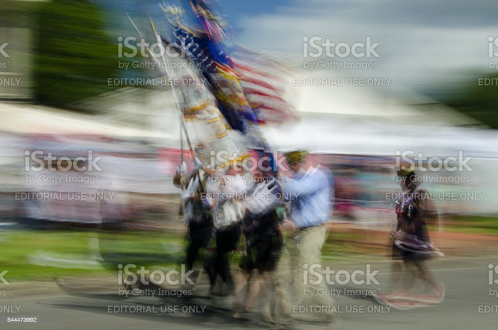 Marching Veterans stock photo