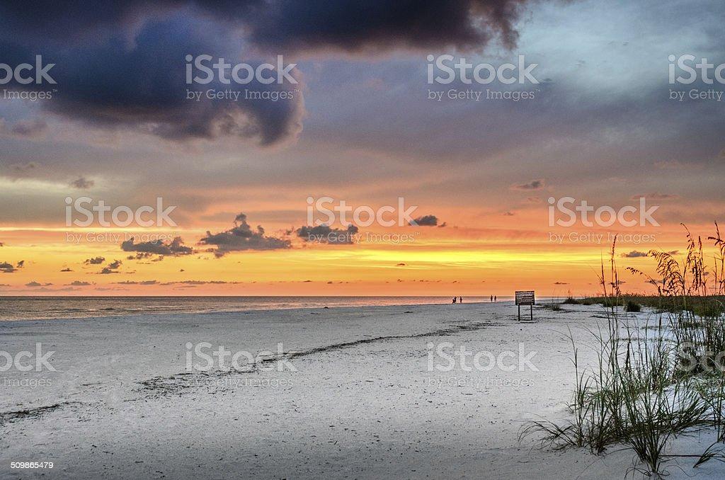 Sonnenuntergang am Strand von Marco Island – Foto