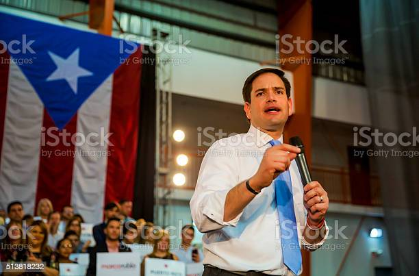 Marco Rubio Us Senator And Republican Presidential Candidate Stock Photo - Download Image Now