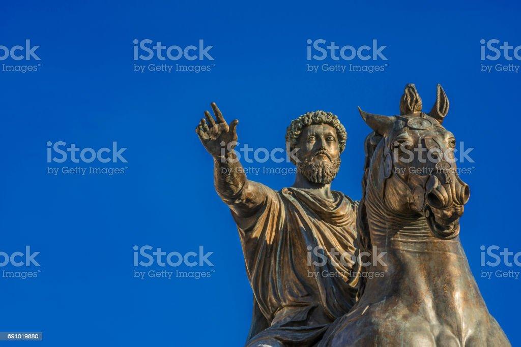Marcus Aurelius emperor of Rome stock photo