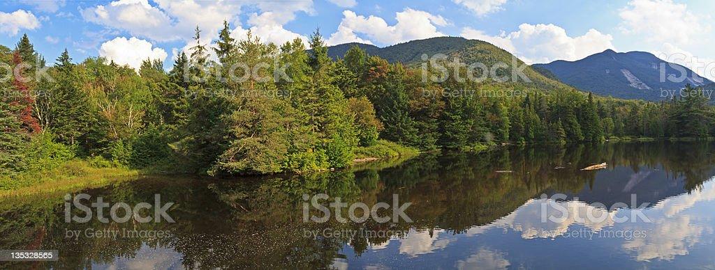Marcy Dam Panorama stock photo