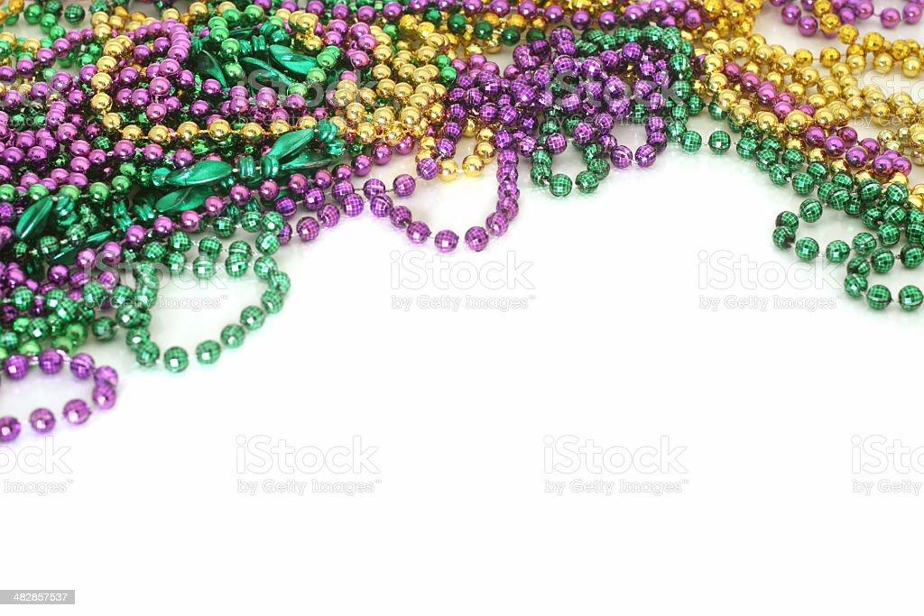 Mardi Gras Bead Background royalty-free stock photo