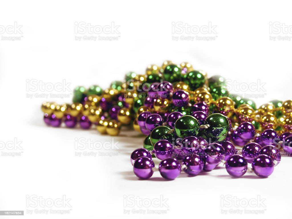 Mardi Gras Beads 7 stock photo