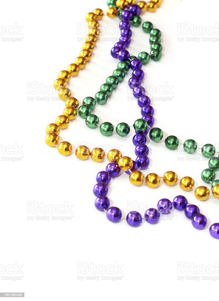 Mardi Gras Beads royalty-free stock photo