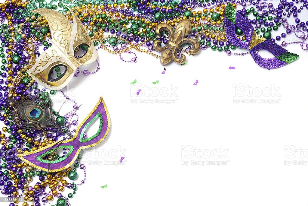 Mardi Gras Corner royalty-free stock photo