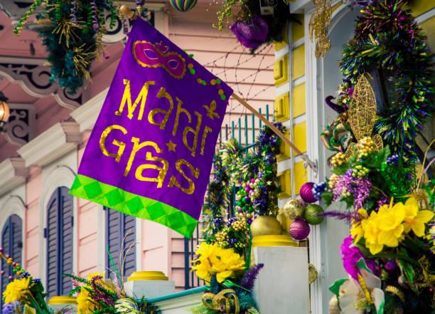 decorações do carnaval em nova orleães - mardi gras - fotografias e filmes do acervo