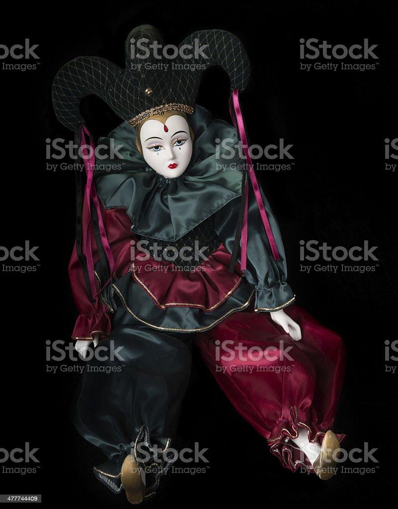 Mardi Gras Doll royalty-free stock photo