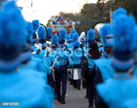 New Orleans Mardi Gras festival Marching Band