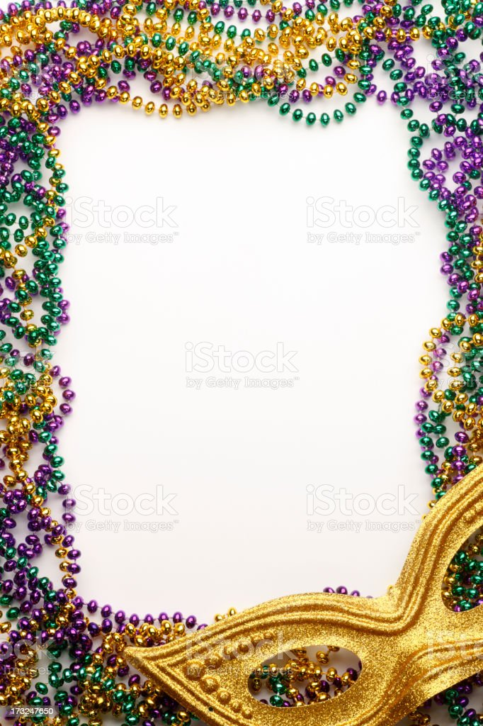 Mardi Gras Frame stock photo