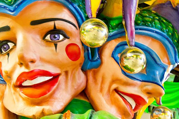 Mardi Gras Jesters stock photo