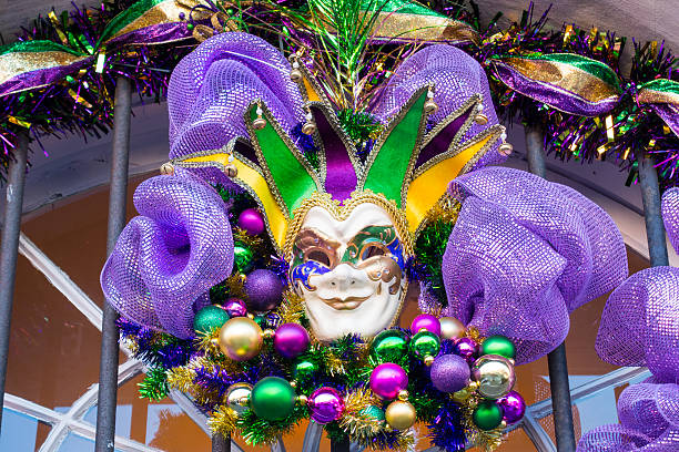 Mardi Gras Mask in New Orleans stock photo